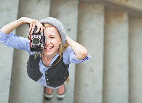 カメラ 女子
