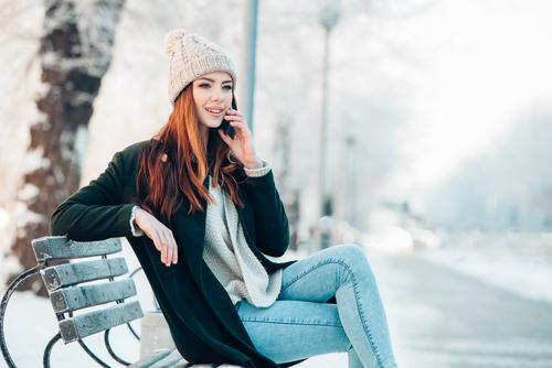 真冬のベンチ