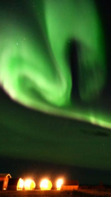 緑のオーロラハート