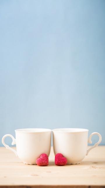 二つのティーカップの画像